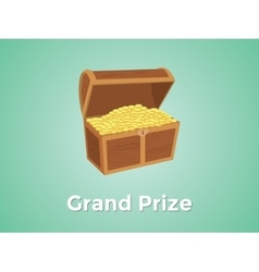 grand prize prizes with green background and gold vector image vector image
