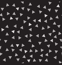 gray and black triangle pattern seamless vector image vector image