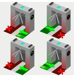 Isometric tripod gate vector