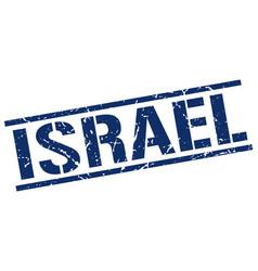 Israel blue square stamp vector