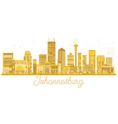 Johannesburg south africa city skyline golden vector