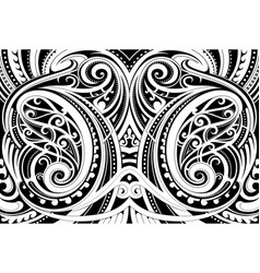 Maori ethnic ornament vector