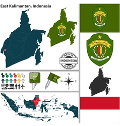 Map of east kalimantan vector