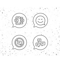 message smile speech bubble and communication vector image