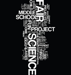 middle school science fair projects text vector image vector image