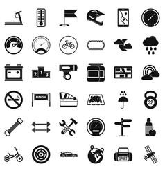 Motorsport icons set simple style vector