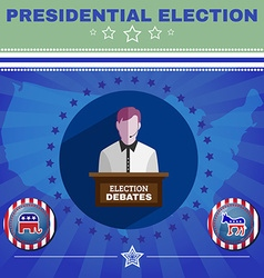 Presidential election debates elephant versus vector