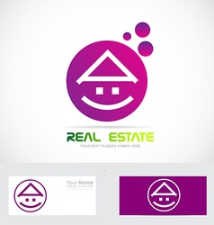 Purple real estate house vector image vector image