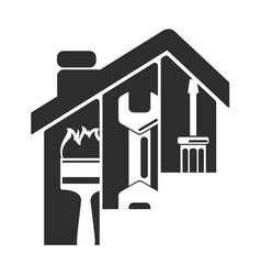 Repair of home symbol vector