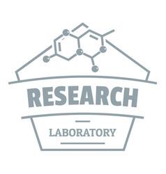 Research molecular logo simple gray style vector