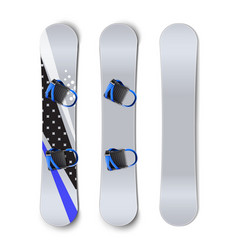 Snowboards with bindings vector