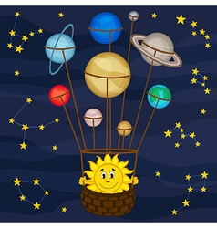 Solar system like balloon vector