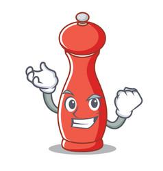 Successful pepper mill character cartoon vector