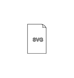 svg format document line icon outline sign linear vector image vector image