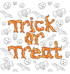 trick or treat background vector image vector image