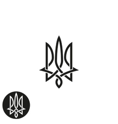 Trident logo monogram Ukraine emblem print mockup vector image