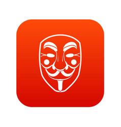 vendetta mask icon digital red vector image