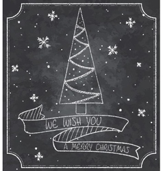 Vintage of chalkboard vector