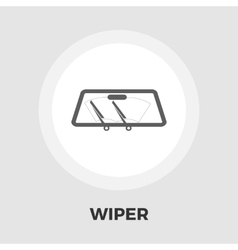 Wiper car icon flat vector