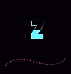 letter Z-01 vector image