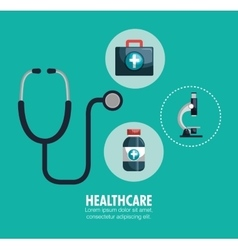 Kit healthcare medical service design graphic vector