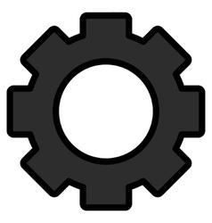 Gear Toolbar Icon vector image