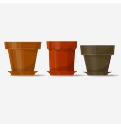 Flower pots vector image