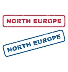 North europe rubber stamps vector