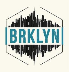 Brooklyn new york graphic t-shirt design tee vector