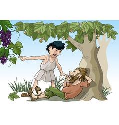 Biblical parable vector image