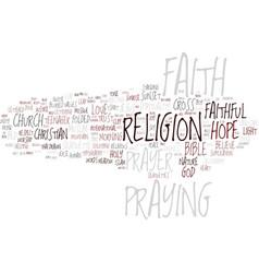 Faithful word cloud concept vector