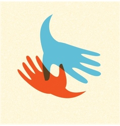 Handshake and friendship icon vector