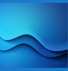 Abstract colorful blue waved background vector