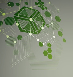 3d abstract green background created in bauhaus vector