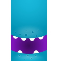 Background with cartoon monsters vector