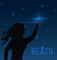 Reach digital design vector