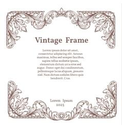 Vintage square ornate frame vector