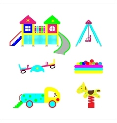 Set of elements on child development vector image
