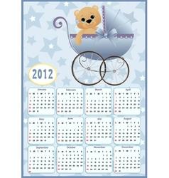 Babys calendar for 2012 vector
