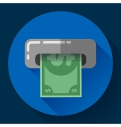 Getting money from an atm bankomat card symbol vector
