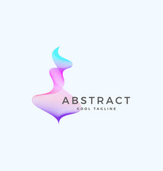 Abstract blend wavy symbol sign or logo vector