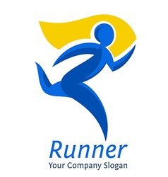 Abstract runner symbol Company logo template vector image vector image