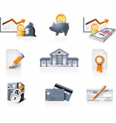 Bank icons vector