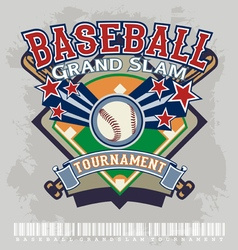 baseball grandslam tournament vector image vector image
