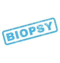 Biopsy rubber stamp vector