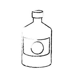 bottle medicine pharmacy cross symbol vector image