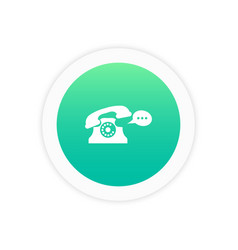 bubble telephone icon vector image