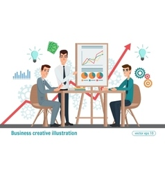 Business professional work team meeting vector image