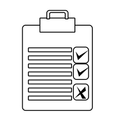 Check list with icons graphic vector