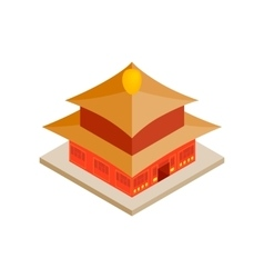Chinese temple icon isometric 3d style vector